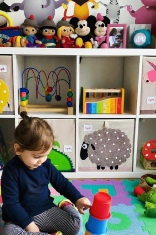 ¿Cómo guardar los juguetes de los niños?